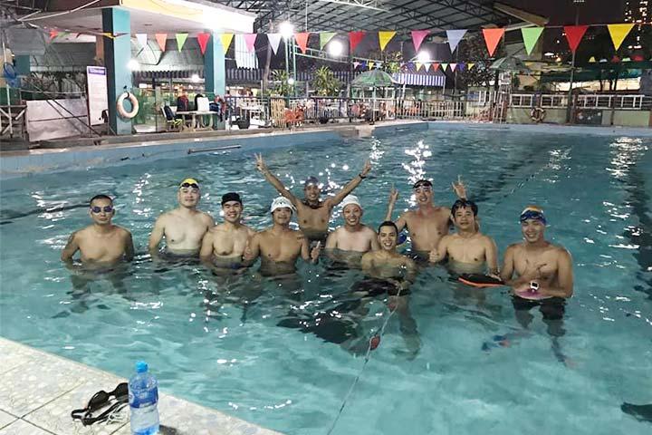 lớp học bơi tphcm hồ bơi hải quân